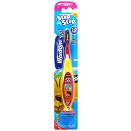 Wisdom Step By Step Toothbrush 3-5Years (Παιδική Οδοντόβουρτσα Κατάλληλη Για Παιδιά 3-5 Ετών)