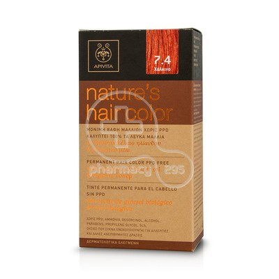 APIVITA - NATURE'S HAIR COLOR N7.4 Χάλκινο