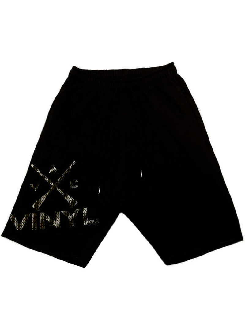VINYL ART CLOTHING BLACK LOGO SHORTS