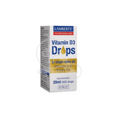 LAMBERTS - Vitamin D3 Drops - 20ml