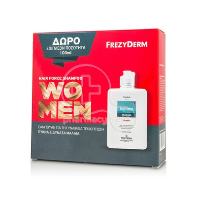 FREZYDERM - PROMO PACK Hair Force Shampoo Women 200ml και επιπλέον ποσότητα 100ml
