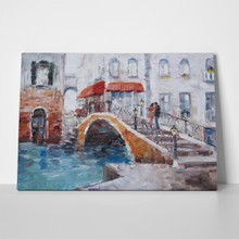 Art oilpainting picture venice bridge lovers 447368728 a