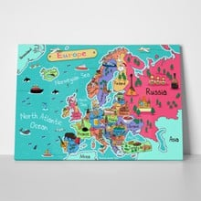 Illustration europe map cartoon style 360952628 a