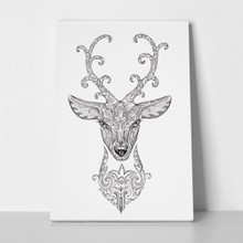 Forest deer head ornament 255820072 a