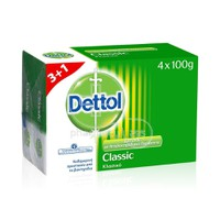 DETTOL - PROMO PACK 3+1 ΔΩΡΟ Αντιβακτηριδιακό σαπούνι classic - 100gr