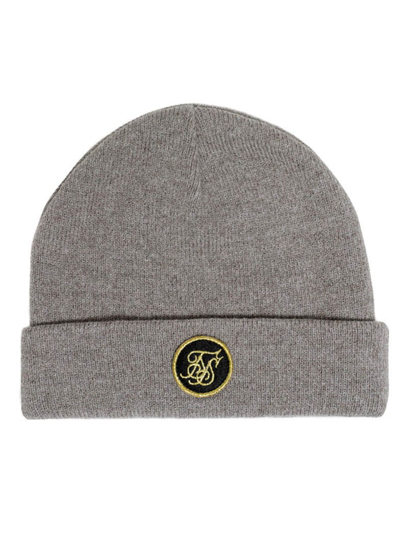 SikSilk Fisherman Beanie - Grey Marl