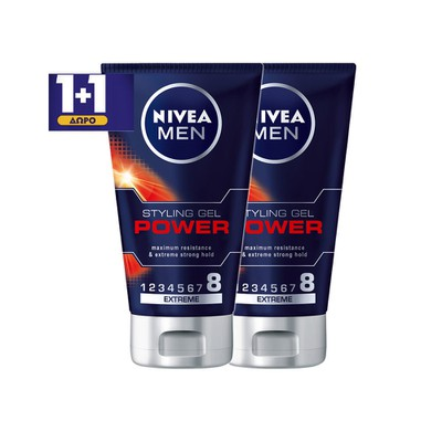 NIVEA - Power Gel - Styling Mαλλιών - 150ml - 1+1 Δώρο