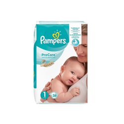 Pampers Pro Care Premium Protection Βρεφικές Πάνες No1 (2-5kg) 38 Τεμάχια