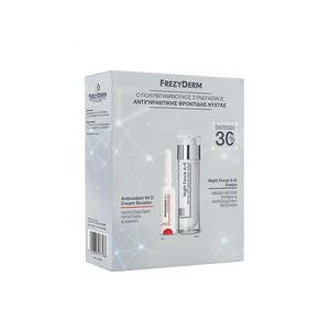 FREZYDERM Πακέτο night force A+E 50ml & antioxidant vitC cream booster 5ml