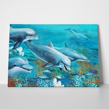 Reef dolphins painting 108603023 a