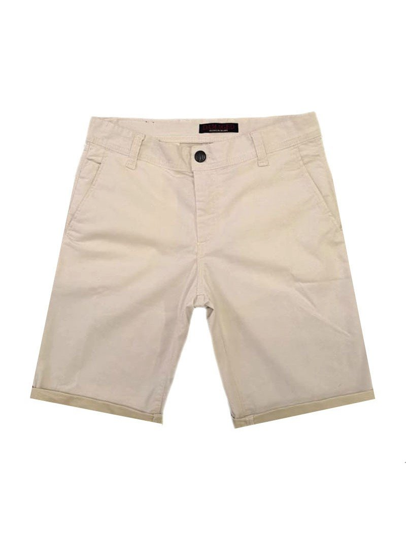DAMAGED JEANS BEIGE SHORTS DB10B