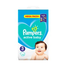 Pampers Active Baby Mega Pack No 3, 6-10Kg 152Τμχ.