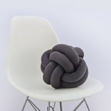 Knot pillow dark grey b