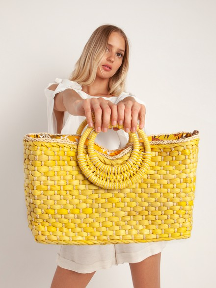 Doublle strap basket bag
