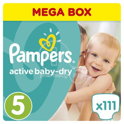PAMPERS - MEGA BOX Active Baby Dry No5 (11-18kg) - 110 πάνες