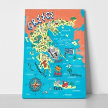 Illustrated map greece travels 441763078 a