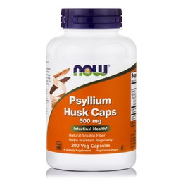 Now Psyllium Husk Caps 500 mg, 200 caps