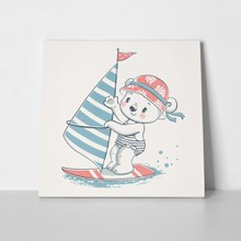 Cute bear windsurfer 668328196 a