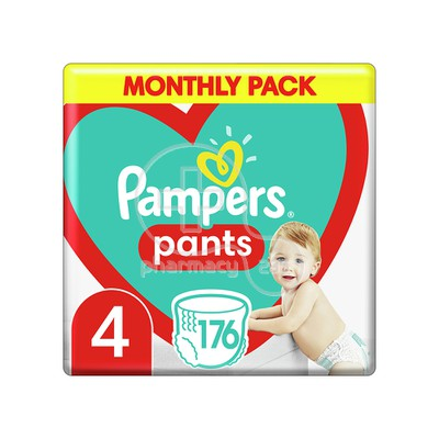 PAMPERS - MONTHLY PACK Pants No4 (9-15kg) - 176 πάνες