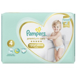 Pampers Premium Care Pants No.4 (9-15kg) 38τμχ