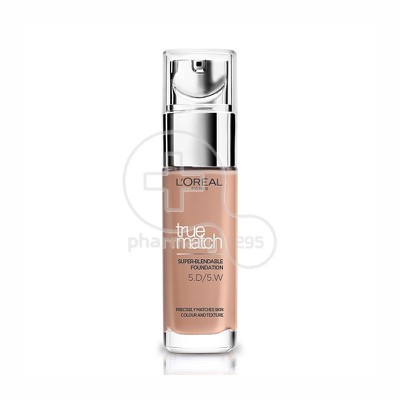 L'OREAL PARIS - TRUE MATCH Super Blendable Foundation No5D5W (Golden Sand / Sable Dore) - 30ml