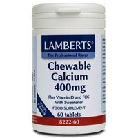 LAMBERTS CALCIUM CHEWABLE 400MG 60TABS