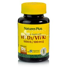 Nature's Plus VITAMIN D3 / VITAMIN K2 (1000IU/100mcg) - 90vcaps