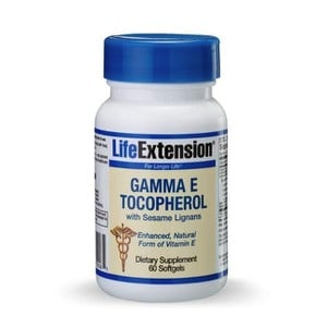 Life extension gamma e tocopherol sesame lig   60 softgels