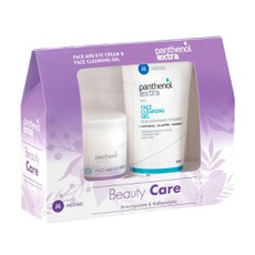 Panthenol Extra PROMO PACK Beauty Care Face & Eye Cream 50ml & Face Cleansing Gel Ζελέ Καθαρισμού Προσώπου 150ml.