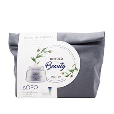 Vichy PROMO PACK - Unfold Your Beauty Liftactiv Supreme Αντιρυτιδική Κρέμα Προσώπου για Ξηρές Επιδερμίδες 50ml & ΔΩΡΟ Mineral 89 Booster 4ml & ΔΩΡΟ Liftactiv Nuit Supreme 15ml & Mineral 89 Eyes 1ml & Νεσεσέρ.