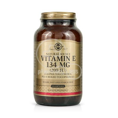 SOLGAR - Vitamin E 134mg (200IU) - 250softgels