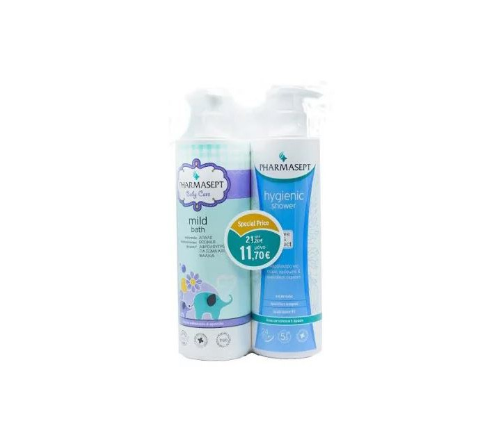 PHARMASEPT BABY MILD BATH 500ML + HYGIENIC SHOWER 500ML (PROMO PACK)