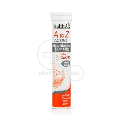 HEALTH AID - A to Z Active Multivitamins & Ginseng with CoQ10 - 20eff.tabs