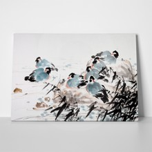 Chinese landscape painting ducks 284680136 a