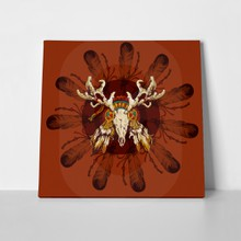Vector round decorative element deer 286185851 a