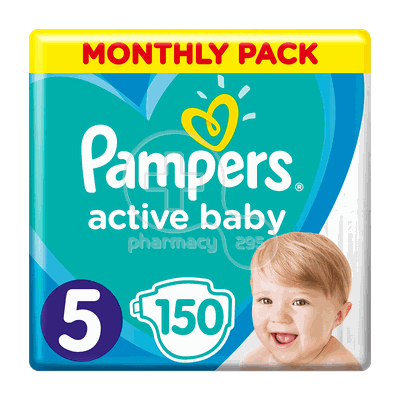 PAMPERS  - MONTHLY PACK Active Baby Νο5 (11-16kg) - 150 πάνες