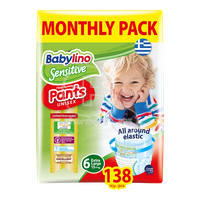BABYLINO - MONTHLY PACK Pants Unisex Junior No6 Extra Large 15kg+ - 138τεμ.