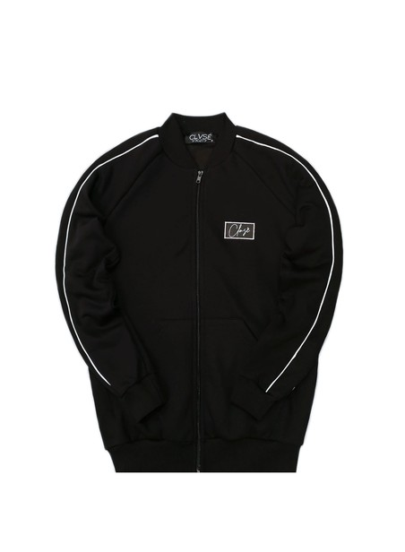 CLVSE SOCIETY BLACK COLLEGE JACKET