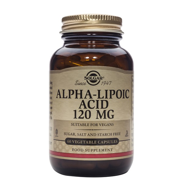 SOLGAR ALPHA LIPOIC ACID 120MG 60CAPS