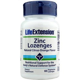 Life Extension Zinc Lozenges 24mg, 60 lozenges