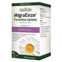 NATURES AID MIGRAEEZE FEVERFEW 100MG  60FILM COATED TABS
