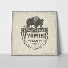 Buffalo wyoming stylized 470567597 a
