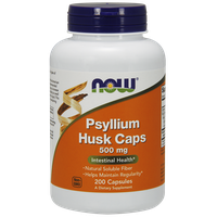 NOW PSYLLIUM HUSK CAPS 500 MG, 200 VEG. CAPS
