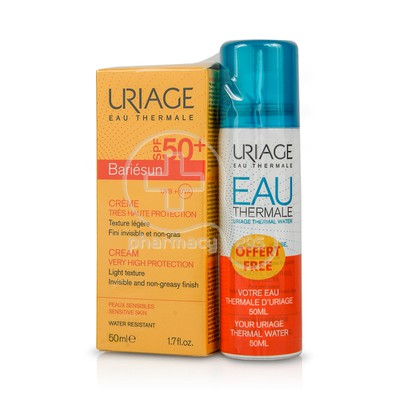 URIAGE - PROMO PACK BARIESUN Creme SPF50+ - 50ml ΜΕ ΔΩΡΟ Eau Thermale Spray - 50ml