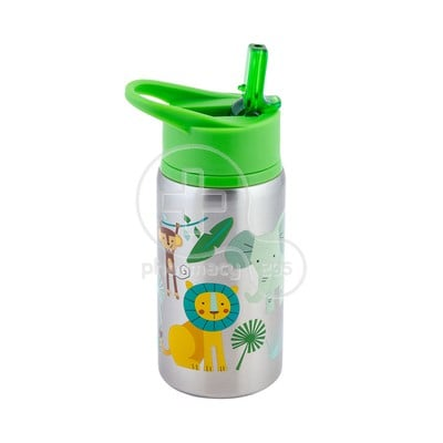 STEPHEN JOSEPH - Stainless Steel Water Bottle (Zoo) - 532ml