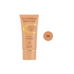 Coverderm Perfect Face SPF20 No 5A Αδιάβροχο Κρεμώδες Make Up 30ml