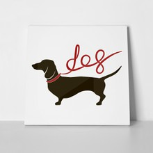 Dachshund with lettering ribbon 735133981 a