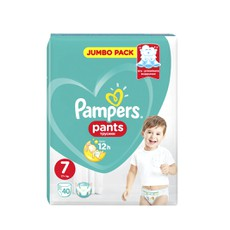Pampers Pants Jumbo Pack No 7 (17+kg) 40Τμχ.