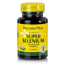 Natures Plus SUPER SELENIUM 200mcg - Σελήνιο, 90 tabs