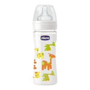 Chicco glass happy giraffes silicone